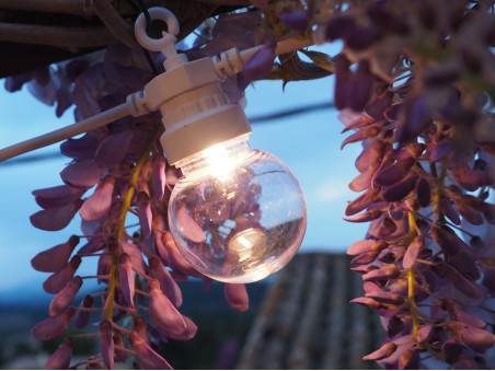 Guirlande guinguette connectable, 20 bulbs transparentes 6m terrasse 2