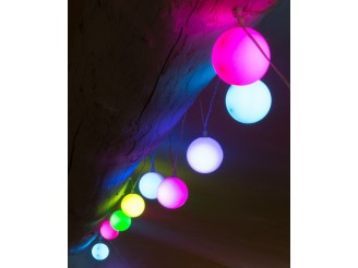 Inparty! Guirlande lumineuse LED 3m30 USB 12 boules multicolores