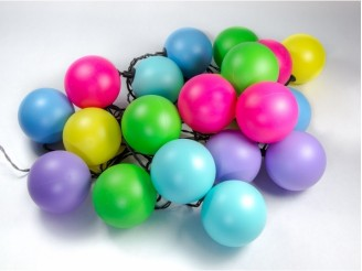 Party! - Set de 5 guinguettes raccordables 100 boules multicolores