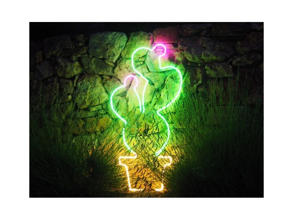 Prickly Pear - Motif Lumineux hauteur 117 cm, néon flexible à LED