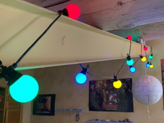party!  Guinguette multicolore EXTENSION 20 lampes LED 6m