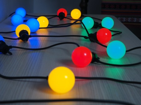 party! Guirlande Guinguette multicolore raccordable 20 lampes LED 6m