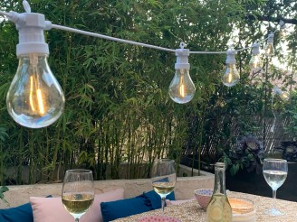 Festoon! Guinguette 5m50 connectable 10 lampes filament LED 2200K