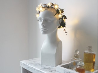 Guirlande lumineuse nomade 15 fleurs blanches
