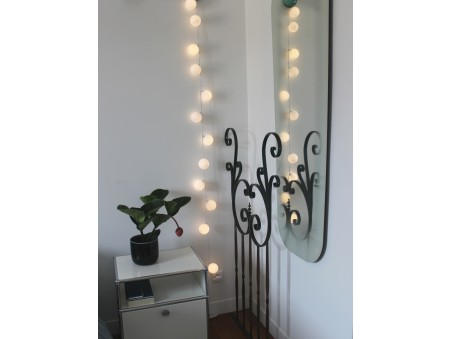 Guirlande lumineuse intérieure 12 boules blanches chambre
